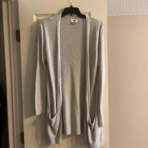 Old Navy grey cardigan